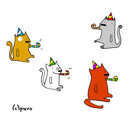 Katzengeburtstag, Illustration von puvo productions