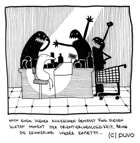 Fink macht ein Nickerchen - Cartoon von puvo productions