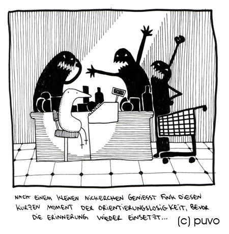 Fink macht ein Nickerchen - Cartoon von puvo productions