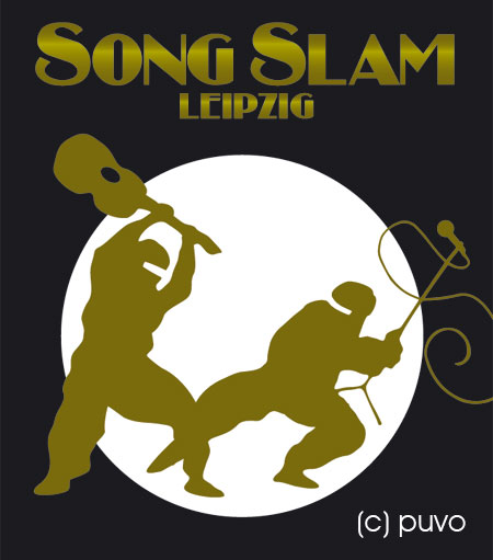 Illustration zum Song Slam Leipzig, design by puvo productions