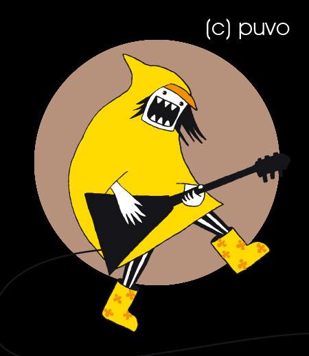 Illustration von puvo productions zum Trocken Rocken 2 Festival in der Moritzbastei Leipzig.