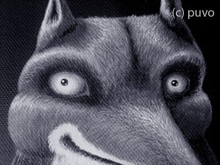 Fuchsportrait in Acryl von puvo productions