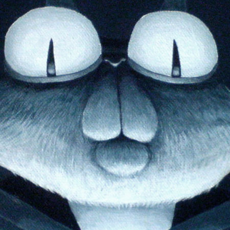 Katzenportrait, Acrylmalerei von puvo productions