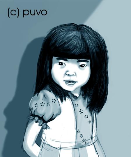Mädchenportrait, Illustration von puvo productions