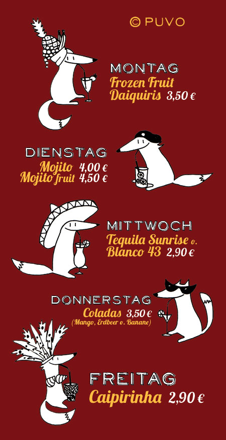 Illustration zu einer Cocktailaktion von puvo productions