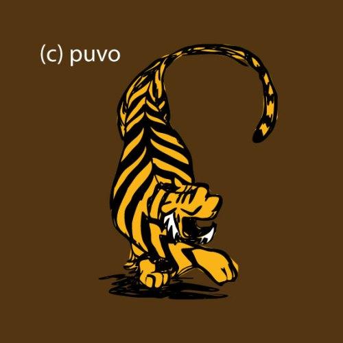 Skizze eines Tigers von puvo productions.