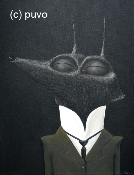 Wolf - Acrylmalerei von puvo productions.