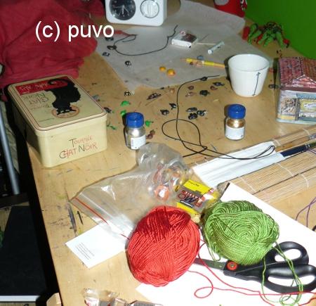 Der aktuelle Zustand von puvos Schreibtisch...