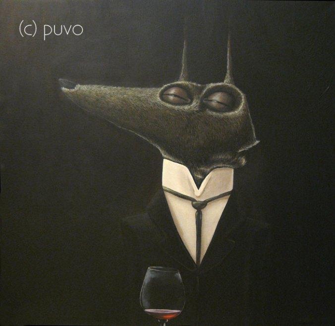 bei Tagesanbruch, Acrylgemälde von puvo productions