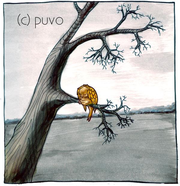 Winterschlaf - Illustration zur bitterkalten Jahreszeit von puvo productions