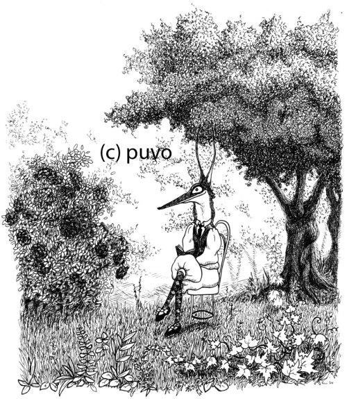 Fuchs im Garten - Illustration von puvo productions