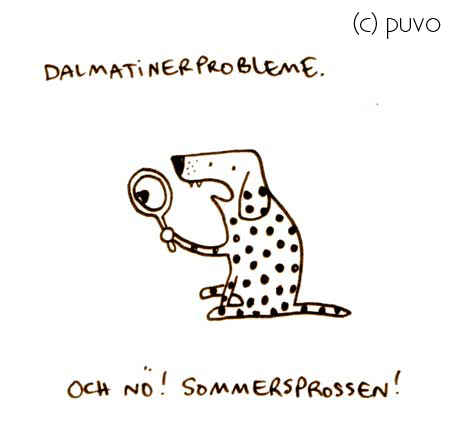 Dalmatinerprobleme im Sommer - Cartoon von puvo productions