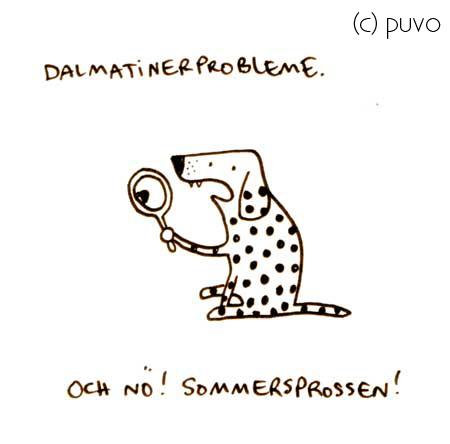 Dalmatinerprobleme im Sommer - Cartoon von puvo productions