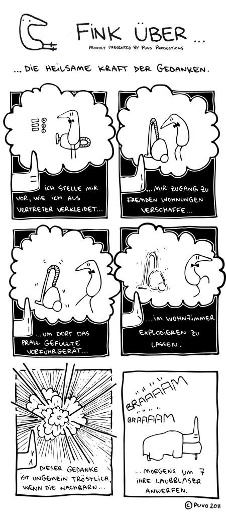 Fink über... die heilsame Kraft der Gedanken. Comic von puvo productions