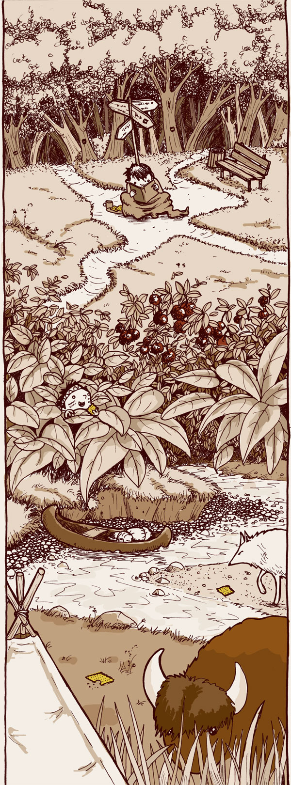 Abenteuer. Illustration von puvo productions.
