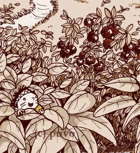 Gebüsch. Ausschnitt einer Illustration von puvo productions