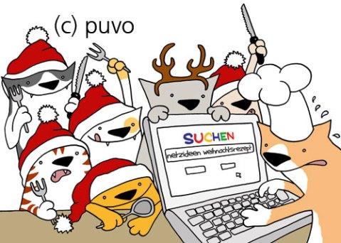 Weihnachtskatzenbande, Illustration von puvo productions