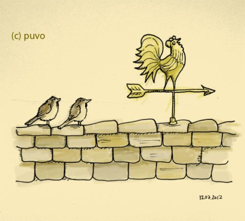 Wetterhahn. Illustration von puvo productions