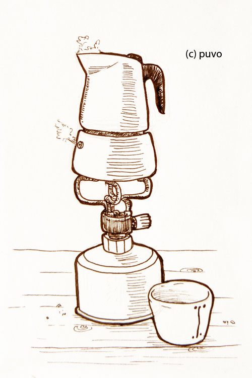 Kaffee. Illustration von puvo productions.