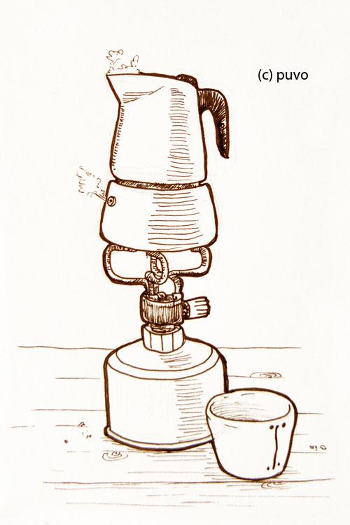 Kaffee. Illustration von puvo productions.