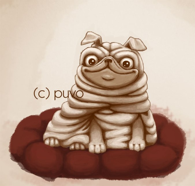 Mops, Illustration von puvo productions.