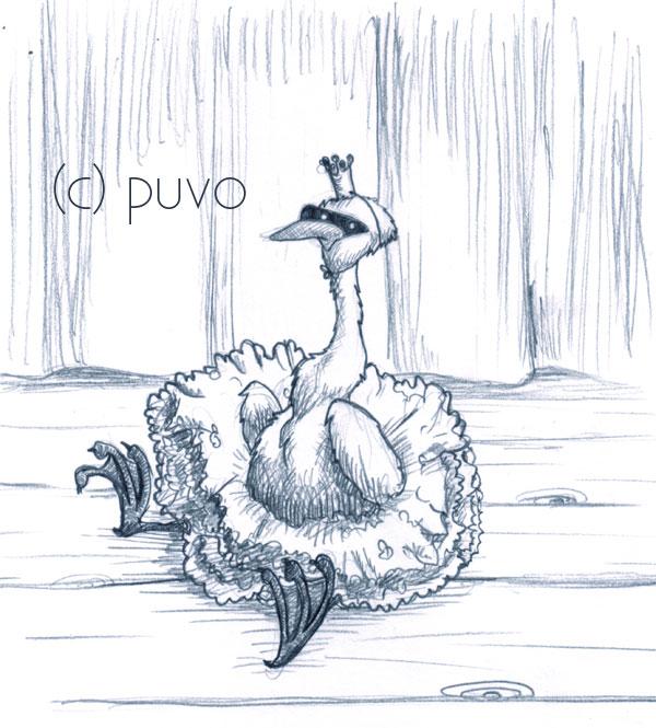 Schwanensee. Illustration von puvo productions