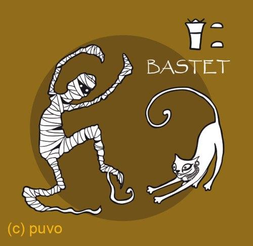 Bastet. Illustration von puvo productions