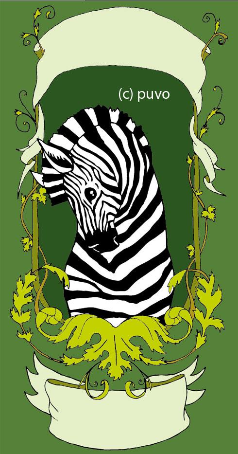 Zebra. Illustration von puvo productions.