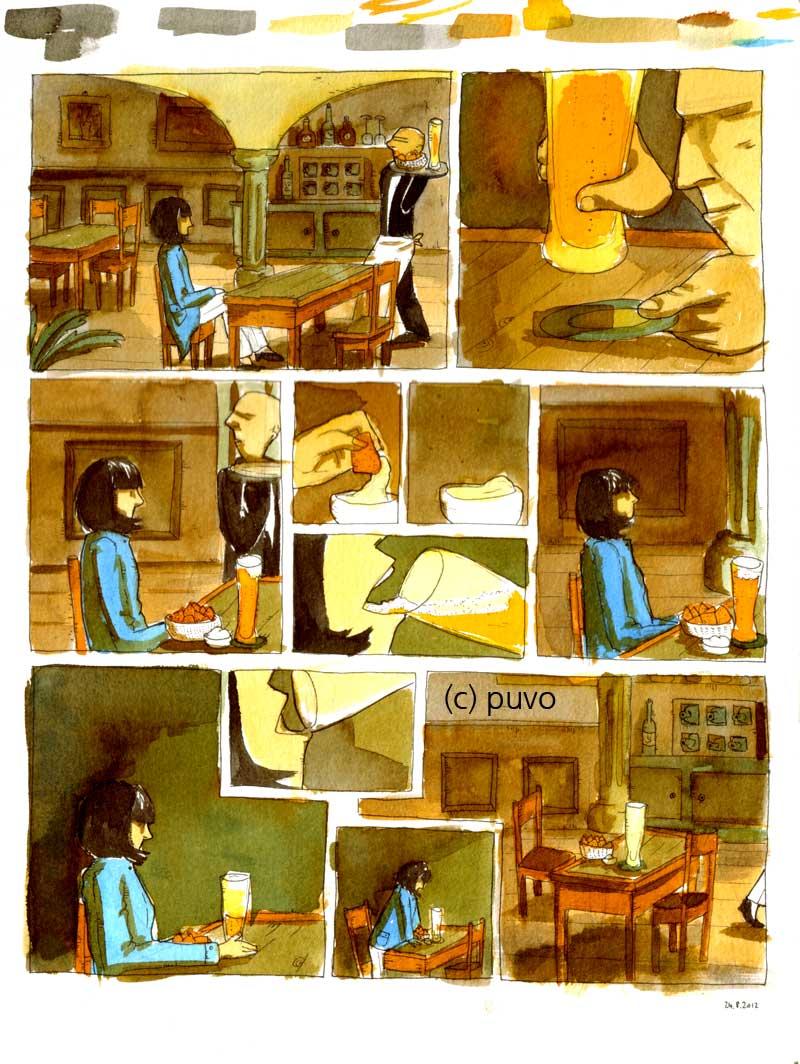 In der Bar - Comicstudie von puvo productions