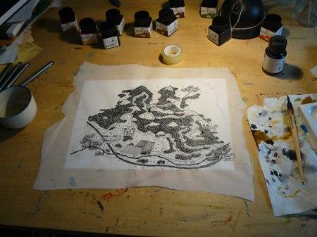 Wanderkarte mit Tusche gezeichnet... von puvo productions
