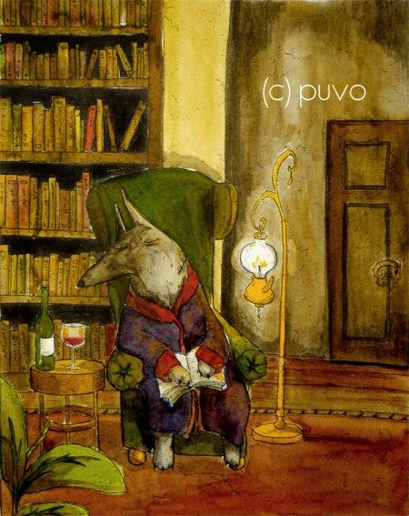 Das letzte Kapitel. Tuschezeichnung von puvo productions.