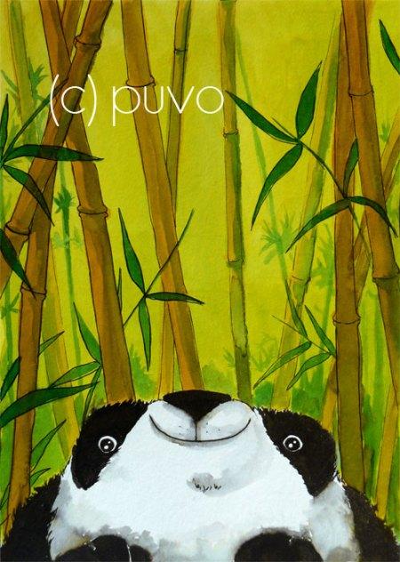 Panda - Tuschestudie von puvo productions.