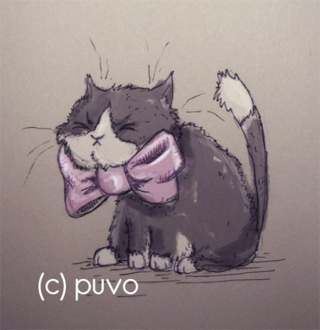 Unglückliche Katze. Illustration von puvo productions