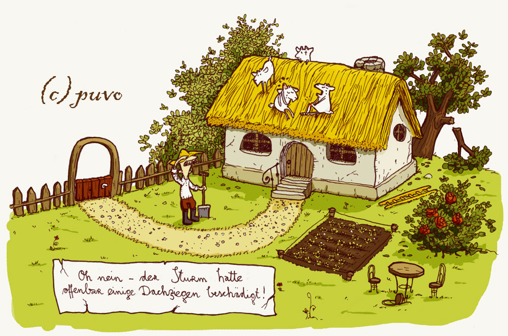 Baustelle haus comic  Haus | puvo productions