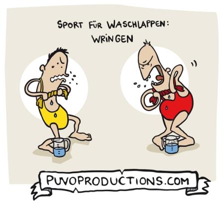 Sport für Waschlappen: Wringen