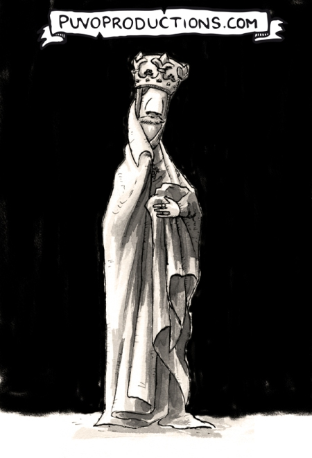 Madame Auguste als Uta von Naumburg