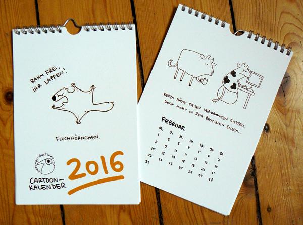 Cartoonkalender 2016