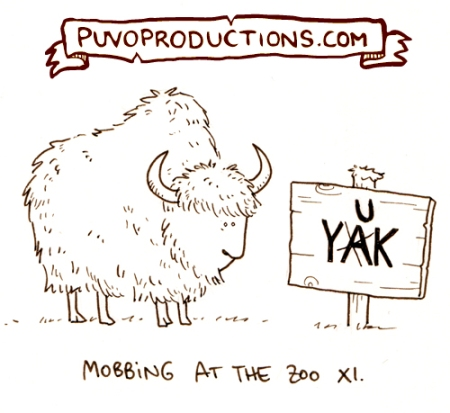 Mobbing im Zoo 11: Yak