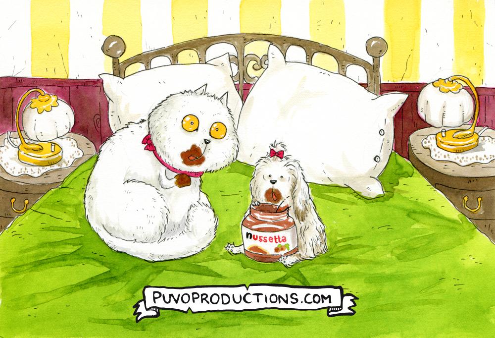 Naschkatzen. Illustration von puvo productions.