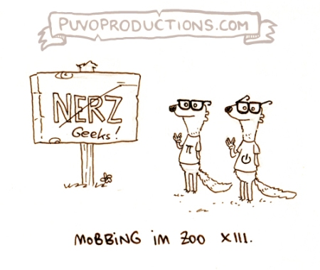 Mobbing im Zoo 13: Nerz