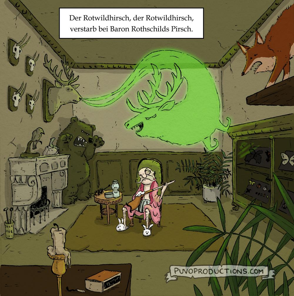 Rotwildhirsch