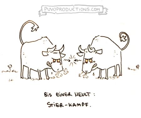 Stier-Kampf.
