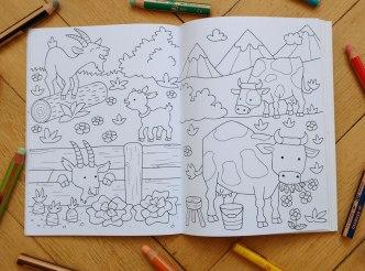 Malbuch Tiere auf dem Bauernhof
