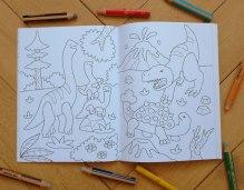 Malbuch Im Land der Dinosaurier